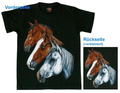 Reiter T-Shirt Pferd 3 Pferde Gr.S,M,L,XL Western Pferdekopf,Indianer Cowboy