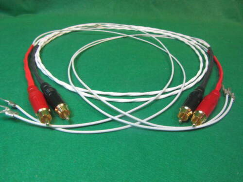 10 FT SILVER PLATED HIFI AUDIOPHILE TURNTABLE RCA INTERCONNECT AUDIO CABLE.
