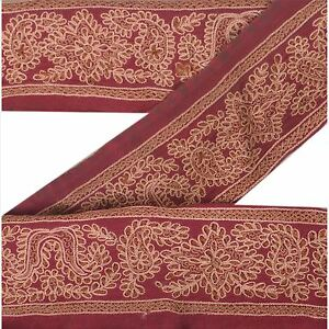 "Cheap Price Sanskriti Vintage Sari Border Hand Embroidered Trim Craft 1.5""w Decor Lace Embellishments & Finishes Lace, Crochet & Doilies"