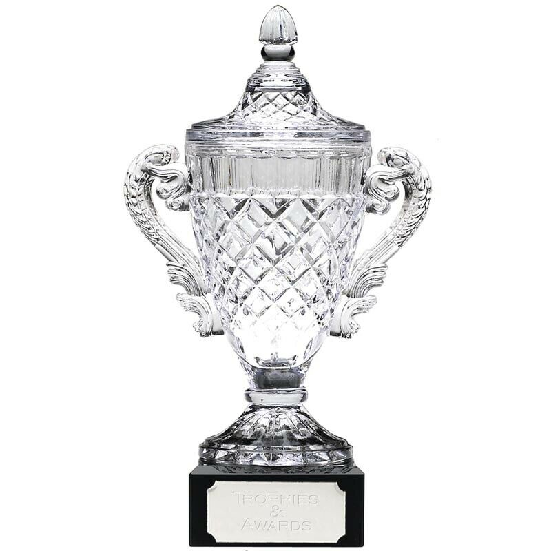 Merit Glass Trophy Cup, Multi Sport,315mm, FREE Engraving (KK132C)GW