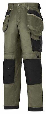 DuraTwill FREE SOCKS OCEAN Snickers 3212 Craftsmen Holster Pocket Work Trousers