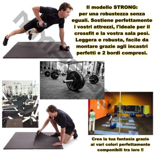 gomma pavimentazione incastro anti trauma crossfit sala pesi fitness funzionale