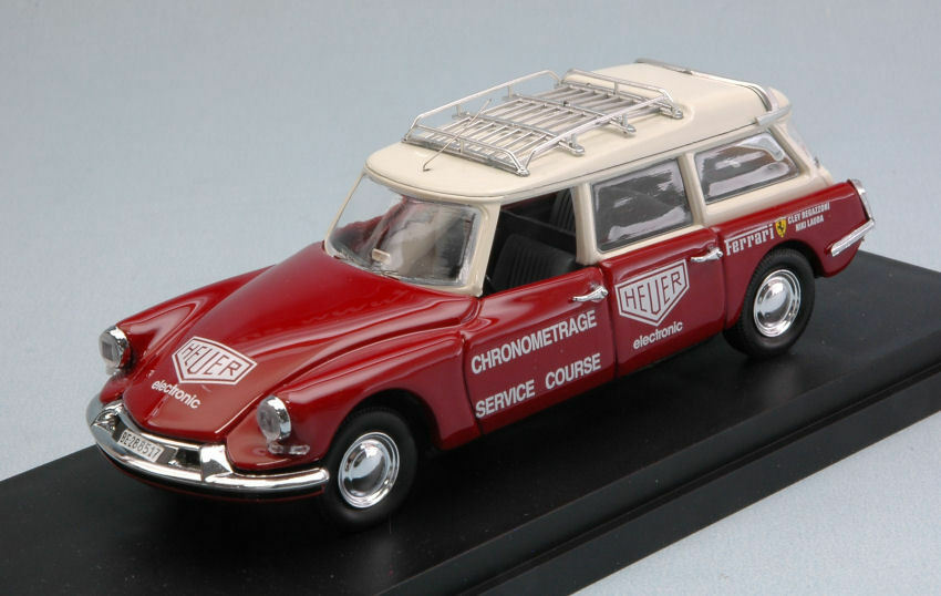 CITROEN DS BREAK FERRARI chronometrage Service rosso & Cream 1:43 MODEL rio4542
