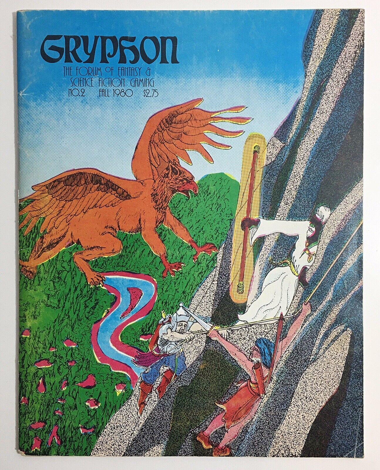 GRYPHON Magazine  2 FALL 1980 Vintage Fantasy RPG Rare