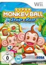 Nintendo Wii Super Monkey Ball Step & Roll * como nuevo