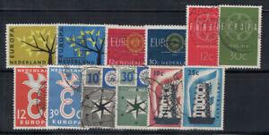 Pays-Bas-1956-62-Oblitere-80-Europe-Cept-12-c-30-c