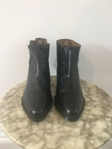 Asos Brown Toe Boots 4 Eu Uk Soft New 37 Women's Ankle Dark Leather Pointed tCxfzdqw0