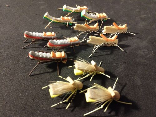 Freshwater Hopper Assortiment, Grand Couleurs, grands Patrons!!! Nouveau ***