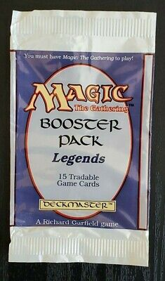 Legends Booster Pack Wrapper MTG Magic the Gathering Empty Opened English