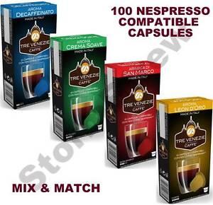 100 NESPRESSO COMPATIBLE COFFEE PODS CAPSULES. 50% SAVINGS vs. ORIGINALS