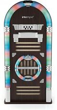 Intempo Bluetooth Jukebox Brown Retro Records Juke Box Digital 50w Speaker LED