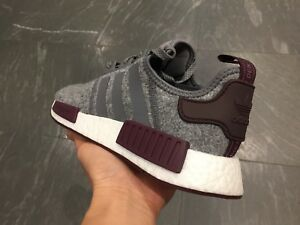 988e63772 Adidas NMD champs gray wool ALL black ultra boost white red R1 ...