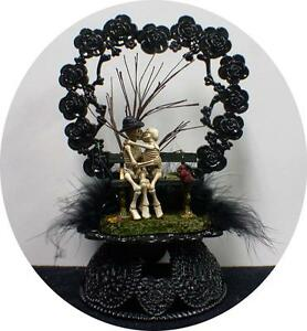 Day of the DEAD Halloween Wedding Cake Topper Funny Skeleton Funny ...