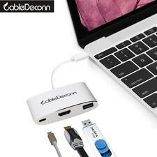 Thunderbolt3 to HDMI/USB3.0/USB-C 3in1 Adapter converter Charger Hub For macbook