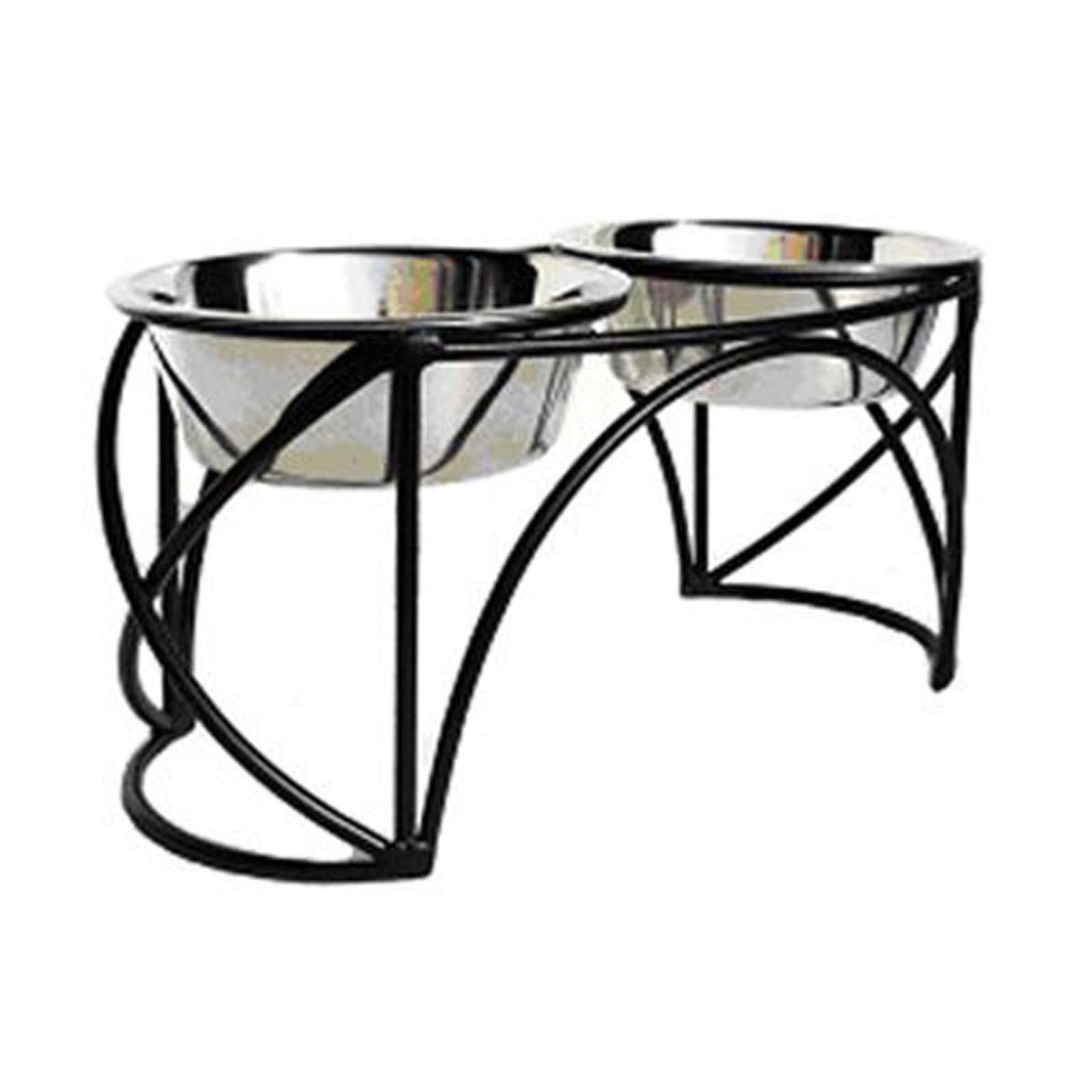 Elevated Dog Food Bowl - Arch Cross Double Double Double Diner 7137bd