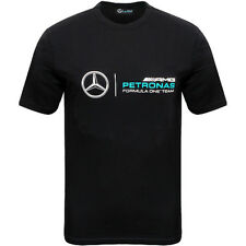 MERCEDES BENZ AMG Petronas Formula 1 Black Logo T-Shirt OEM NEW LARGE