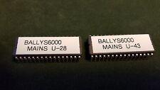 Bally S6000 Slot Machine Mains. U-28 and U-43 Mains With Printer support.