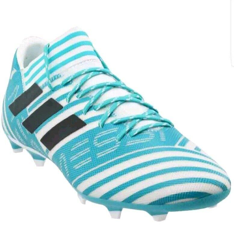 Adidas Nemeziz Messi 17.3 Fg  - White  bluee Mens Soccer shoes Cleats
