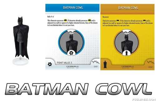 BATMAN COWL S107 R107 No Man's Land month 6 DC HeroClix Object/Relic OP LE