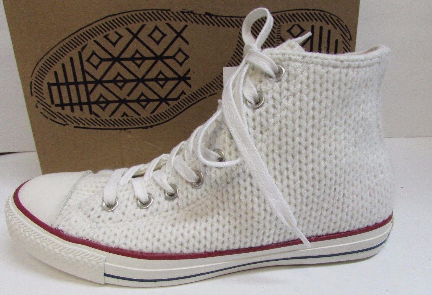 Converse Größe 9 WEISS Knit Hi Top Sneakers NEU Damenschuhe Schuhes