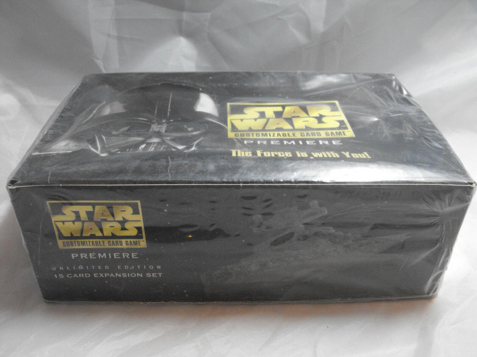 Star Wars CCG BIANCO Border Border Border Premiere COMPLETO SIGILLATO BOOSTER Scatola di 36 42d04b