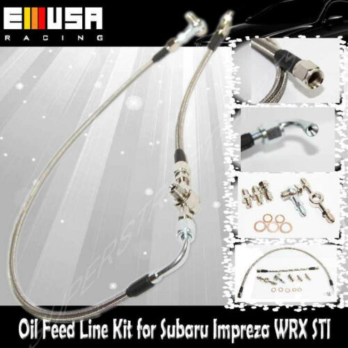 TurboTD04+Feed Line for 04-08 Subaru Forester XT Models 49377-04300 14412AA451