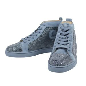 newest collection 054b7 bd7bf Details about NIB CHRISTIAN LOUBOUTIN 'Louis Orlato Strass' Suede Hi-Top  Sneakers Shoes 6/39