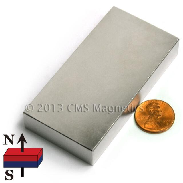 "Neodymium Magnets N42 3""X1.5""X0.5"" NdFeB Rare Earth Magnet 4 PC"