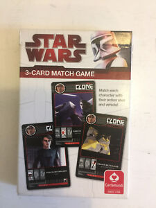 Kartenspiel 3-Card Match Game Cartamundi Kinder Das Star Wars The Clone Wars