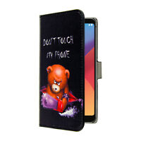 LG K8 2017 Handy Tasche Handyhülle Don't Touch my Phone + Displayfolie