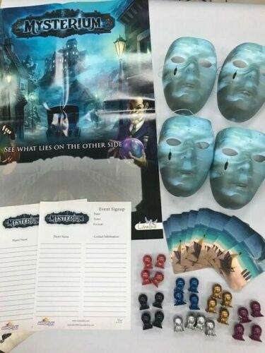 20 Color Token and 28 Cards Asmoplay VERY RARE w//4 Masks Mysterium Promo Kit