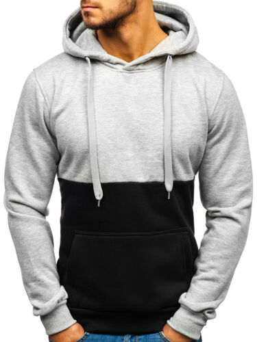 Kapuzenpullover Hoodie Swearshirt Langarmshirt Pulli Herren BOLF 1A1 Basic
