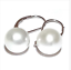 thumbnail 3 - gorgeous  a pair 10-11mm AAA south sea round white pearl dangle earring 14k