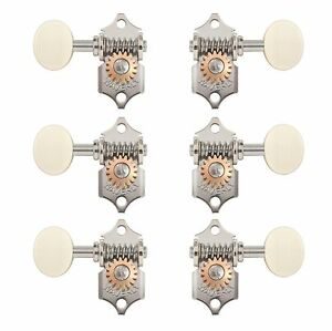 waverly guitar tuners with ivoroid knobs for solid pegheads nickel 3l 3r ebay. Black Bedroom Furniture Sets. Home Design Ideas