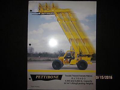 PETTIBONE EXTENDO T6036T6044T8036T8044 Fork Lift Loader Tractor Brochure EBay