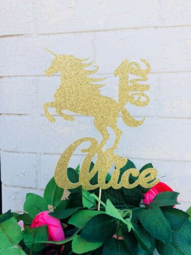 Personalized Unicorn Cake Topper,Personalized Name and Age,Birthday Cake Topper,
