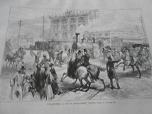 Gravure-1876-Philadelphie-Vue-de-Broad-Street