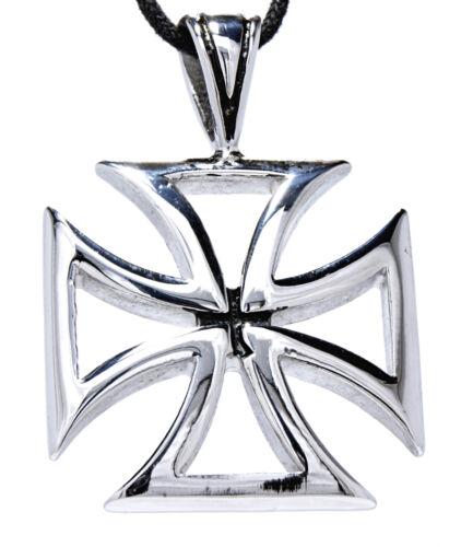 Eisernes Kreuz EK  Anhänger mit Königskette Silber Silber//Schwarz Armband Band