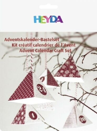 Calendrier de l/'Avent-Bastelset Heyda rouge neu/&ovp Noël Calendrier De L/'Avent Bricolage