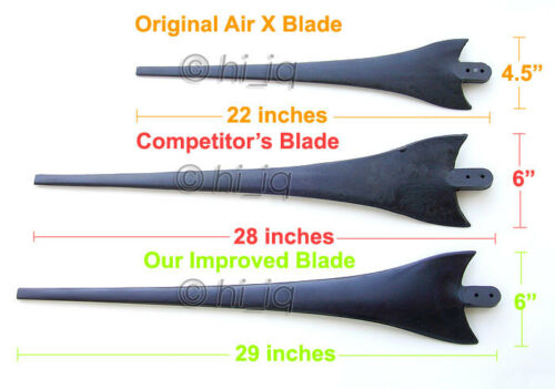 "3 x 62/"" Wind turbine generator blades for Air X 403 303 Apollo"