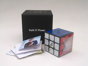 QiYi The Valk3 power 3x3x3 Speed Magic Cube High-end Twist Puzzle Toys Black