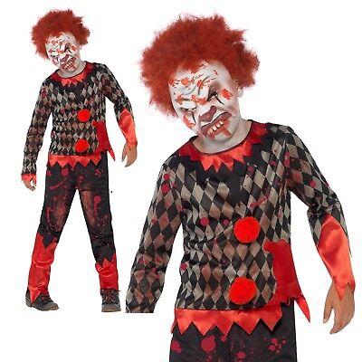 Bambino Deluxe Costume Da Zombie Clown Ragazzi Halloween Abito Outfit + Maschera-mostra Il Titolo Originale Essere Altamente Elogiati E Apprezzati Dal Pubblico Che Consuma
