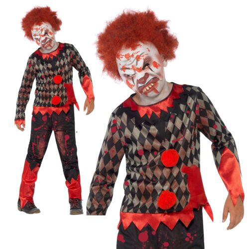 Masque Enfant Deluxe Zombie Clown Costume Garçons Halloween Fancy Dress Costume