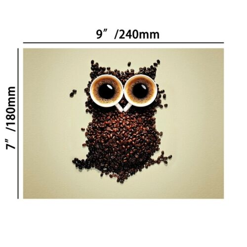 Coffee Bean Owl Canvas Poster Art Picture Prints Kitchen Wall Hanging Decor