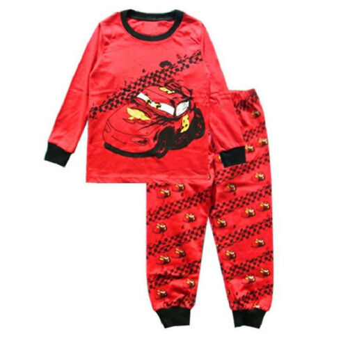 Toddler Kids Boys Lightning McQueen Pajamas Set Sleepwear Nightwear Pyjamas Pj/'s