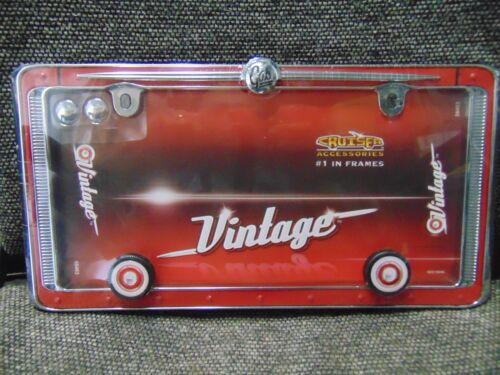 2 LOT Cruiser Accessories #58463 Vintage License Plate Frame Shop Waz 4 Auto