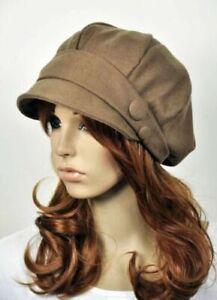 Fashion-Cotton-Women-039-s-Spring-amp-Autumn-Causal-Dress-Visor-Hat-Beanie-JR01-Khaki