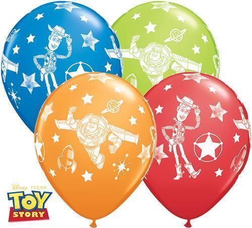"""11/"""" Disney Toy Story Látex Globos Helio Decoración Fiesta De Cumpleaños Buzz Woody"""