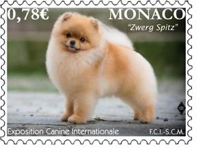 Monaco 2018 German Zwerg Spitz Dog Chien Hunde Canis Perros Hond 1v