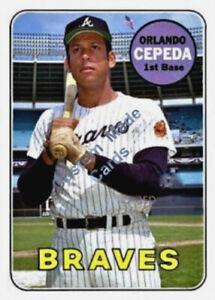 Very Good Shape 1969 Orlando Cepeda Topps # 385 Card